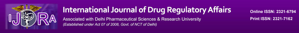 International Journal of Drug Regulatory Affairs (IJDRA)
